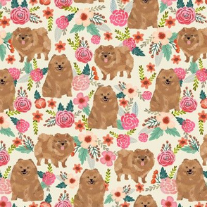 pomeranian cute pom dog cute pom pom dog design sweet pom dogs fabric florals pom fabric