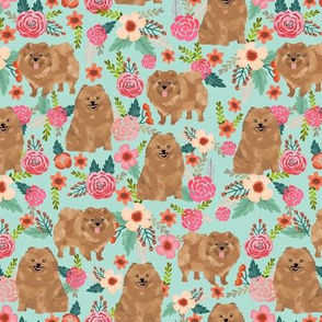pomeranians cute pom dog fabric pom poms fabric sweet pom dog florals les fleurs fabric sweet pom dog fabric