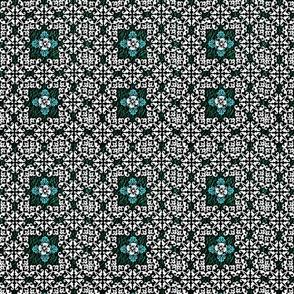 Emerald & Turqouise Crest