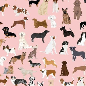 dogs pink cute dog fabric best dog breed pattern dog fabric dog design sweet dogs