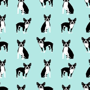 boston terriers mint cute dog fabric best dog design best light mint dog black and white nursery dog fabric
