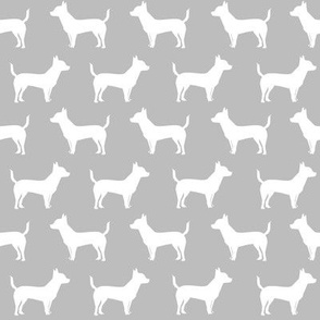 chihuahua dog grey fabric chihuahua dog silhouette fabric cute grey and white chihuahua fabrics cute chihuahua design dog design fabric cute dogs best dog chihuahuas fabric