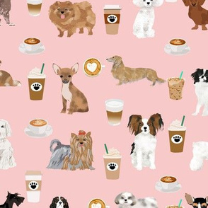 coffee and dogs fabric cute pink dog design best dogs fabrics cute coffee fabric girls must have fabric