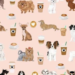 coffee dogs dog fabric cute coffee blush tan coffee fabrics best latte design cute dogs fabric best coffee
