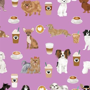 dogs coffee purple cute dog design best coffee fabrics cute dog coffee purple fabric