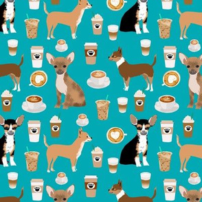 chihuahuas coffee fabric cute dogs dog breed fabrics coffee latte fabric chihuahuas dogs fabric