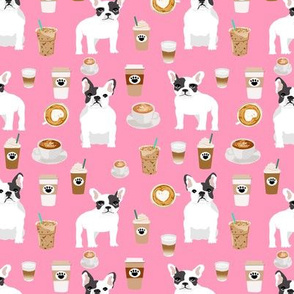 frenchie coffee cute french bulldogs fabric best french buldogs fabric cute frenchie best dogs coffee print