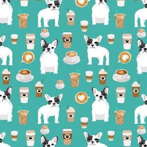 french bulldogs coffee fabric cute frenchie coffee fabric cafe latte fabrics cute frenchie dog fabric
