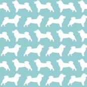 shiba inu silhouette dog fabrics cute mint blue fabrics shiba inus best shiba fabrics