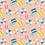 Beach Balls Pale Pink