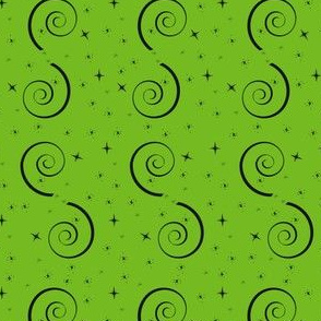 Halloween Magic Swirls-Green