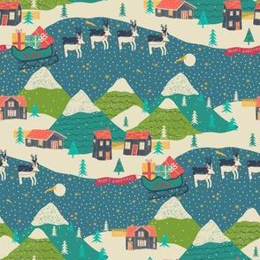 Christmas - Mountain_Scene