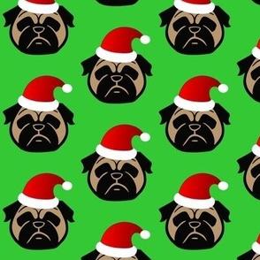 Pug Santa Paws