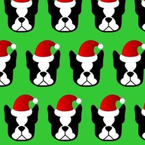 Boston Terrier Santa