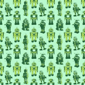 robots (yellow and green)