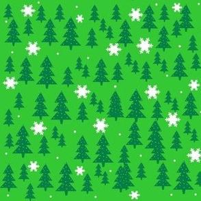 Christmas trees & snowflakes