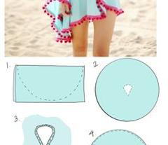 Zielona suknia 3D  Cover-up Poncho