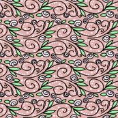 Delicate floral wave stripe