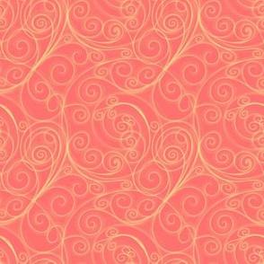 Project 51 | Zentangle Filigree Swirls | Gold on Peach