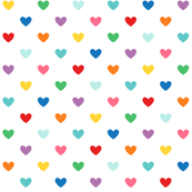 rainbow hearts XL