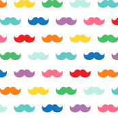 rainbow moustaches XL