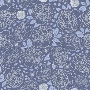 Midnight Garden | Bold | Pale Denim Blue