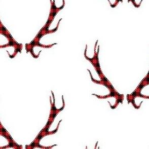 Plaid Deer Horns