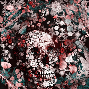 Flowerskull - Dark Pink