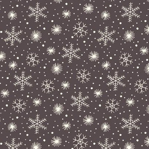 Christmas snow on gray
