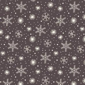 Christmas snow on gray