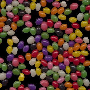 Jellybean Sweets on Black