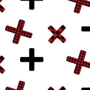 X Plaid in Red & Black