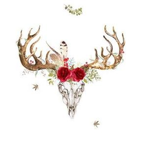 Woodland Floral Boho Print