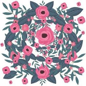 Swifting Floral Wreath