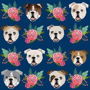 english bulldog florals flowers cute dog fabric cute dogs fabric florals vintage floral wreath fabrics