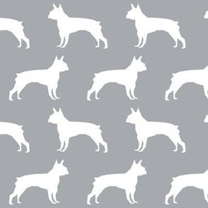 boston terrier grey fabric cute dog design best boston terrier silhouettes fabric cute dog silhouette fabric design