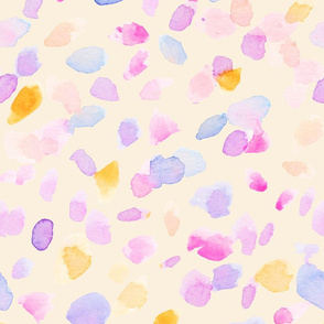 Watercolor Dots Polka Dot Pattern