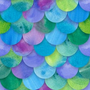 Multicolor Mermaid Scales