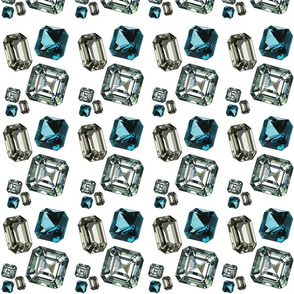 gemstones-white-multi-size