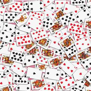 Playing cards Pattern - Red Backs