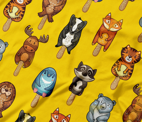 Cute animal popsicles