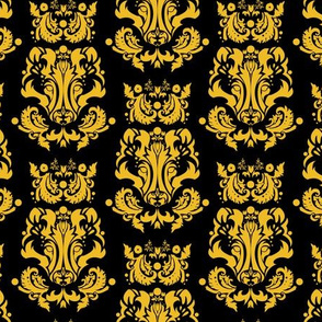 Badger Damask Gold on Black - small print