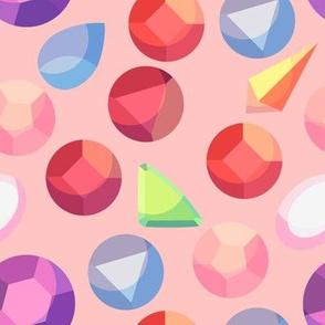 Crystal Deco Gems (Pink)