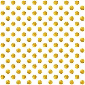 White + Polka Gold Dots