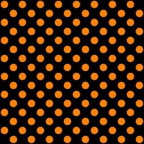 Black + Polka Orange Dots