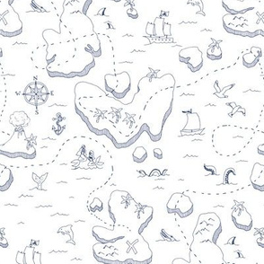 Treasure Map Blue