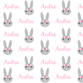 rabbit personalized baby fabric , personalized baby, name fabric,  cute fabric, best custom fabric, custom name fabric,