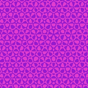 star quasicrystal - bright pink and purple