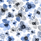 Painted Blue Berry Floral