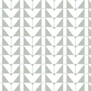 Geometric Triangles, gray green
